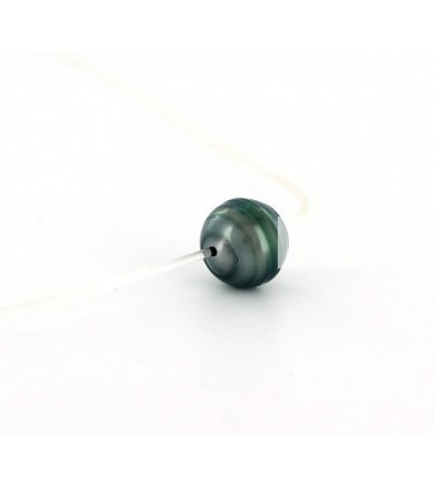 économiser aspect esthétique grande remise de 2019 collier fil nylon transparent avec perle de Tahiti