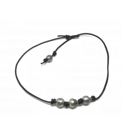 collier ras de cou perle de tahiti