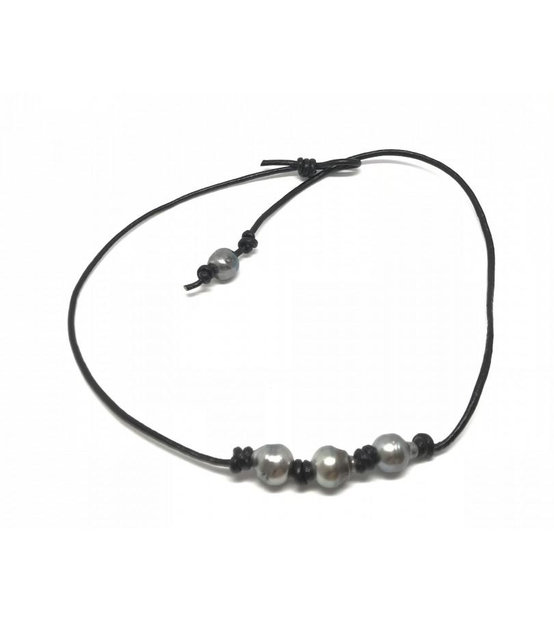 collier ras de cou avec perle de tahiti